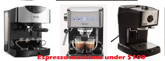 Best espresso machines under 100
